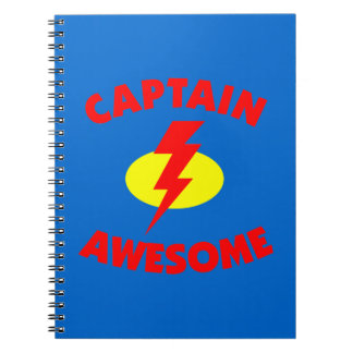 Captain Awesome Spiral Notebook