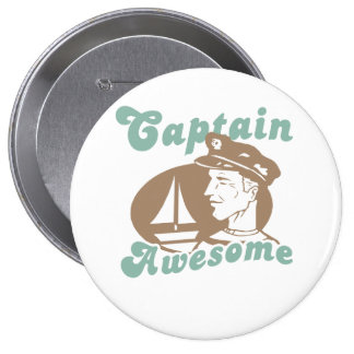 Captain Awesome Pinback Button