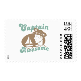 Captain Awesome Stamp
