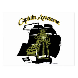 Captain Awesome Postcard