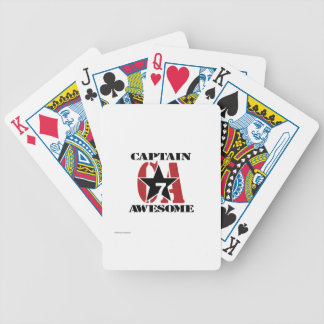 Captain Awesome - Propaganda Bicycle Playing Cards