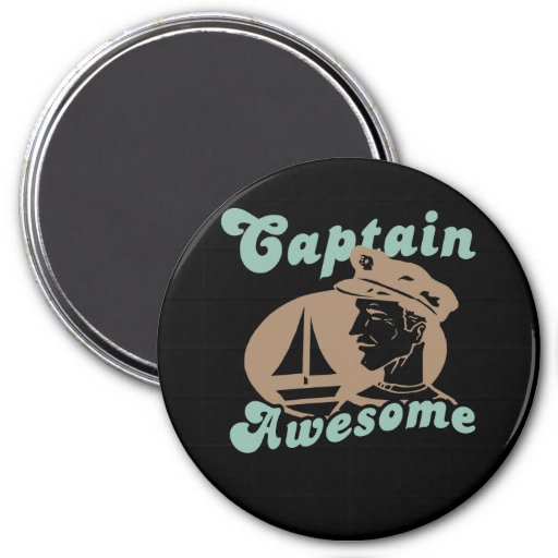 Captain Awesome Refrigerator Magnets