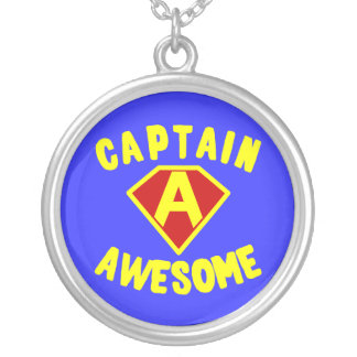 Captain Awesome Round Pendant Necklace