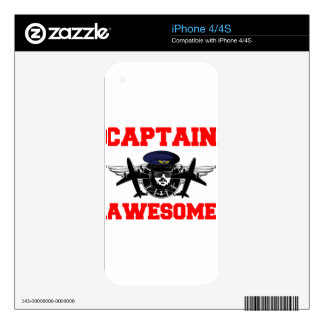 Captain Awesome Skin For iPhone 4