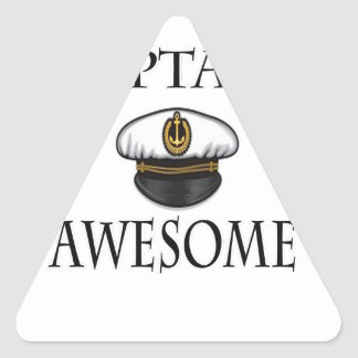 Captain Awesome Triangle Sticker