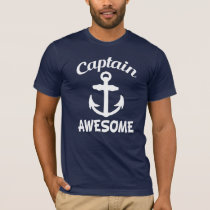 Captain Awesome with Anchor funny men's T-Shirt