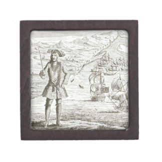 Captain Bartholomew Roberts (1682-1722) with two s Jewelry Box