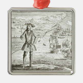 Captain Bartholomew Roberts (1682-1722) with two s Christmas Tree Ornament