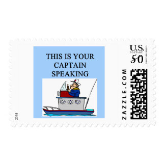 captain boating sailing joke postage