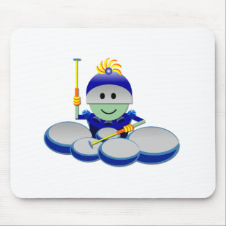 Captain Bok the Quads Space Guy From Outer Space Mouse Pad