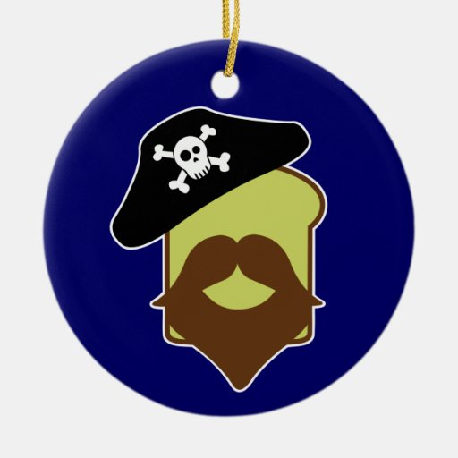 Captain Breadbeard Christmas Tree Ornament