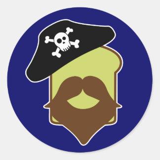 Captain Breadbeard Classic Round Sticker