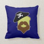 Captain Breadbeard Throw Pillow