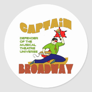 Captain Broadway (lite skin) Stickers