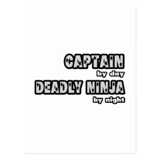 Captain By Day...Deadly Ninja By Night Postcard