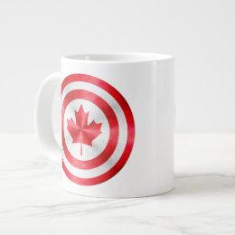 Captain Canada Hero Shield Large Coffee Mug