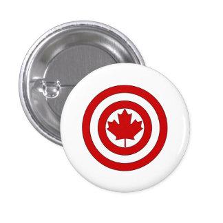 Captain Canada Shield Symbol 1 Inch Round Button