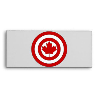Captain Canada Shield Symbol Envelopes