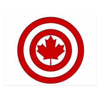 Captain Canada Shield Symbol Postcard
