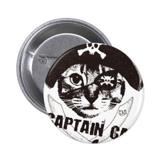 Captain Cat Button