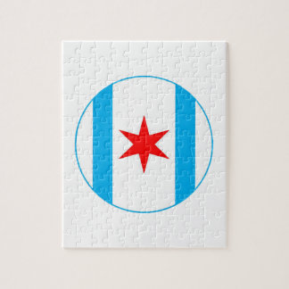 Captain Chicago Shield Jigsaw Puzzle