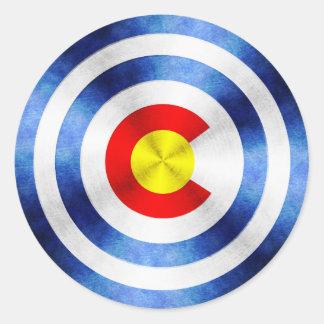 Captain Colorado Hero Shield Classic Round Sticker