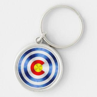 Captain Colorado Hero Shield Keychain