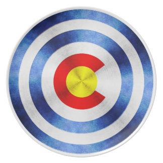 Captain Colorado Hero Shield Melamine Plate