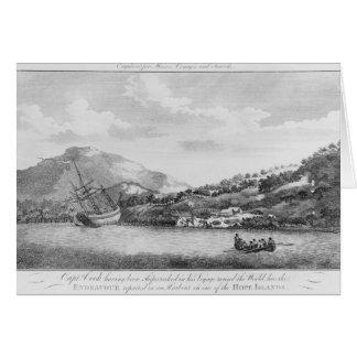 Captain Cook having been shipwrecked Card