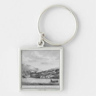 Captain Cook having been shipwrecked Keychain