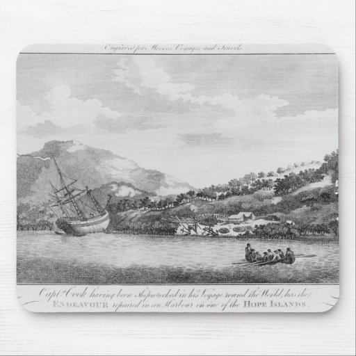 Captain Cook having been shipwrecked Mouse Pad