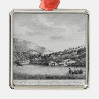 Captain Cook having been shipwrecked Christmas Tree Ornament