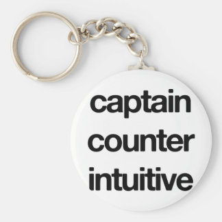 Captain Counter Intuitive Keychain