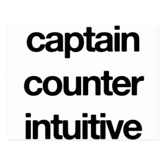 Captain Counter Intuitive Postcard