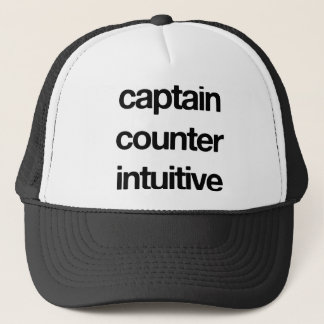 Captain Counter Intuitive Trucker Hat