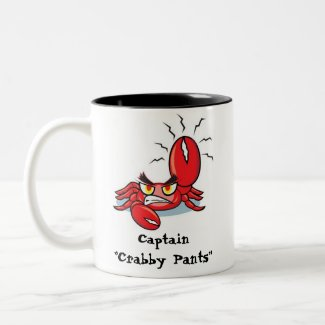 Captain Crabby Pants Coffee Mug