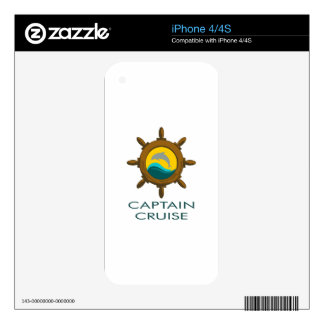 CAPTAIN CRUISE SKINS FOR iPhone 4S