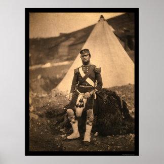 Captain Cuninghame Highlander 1855 Poster
