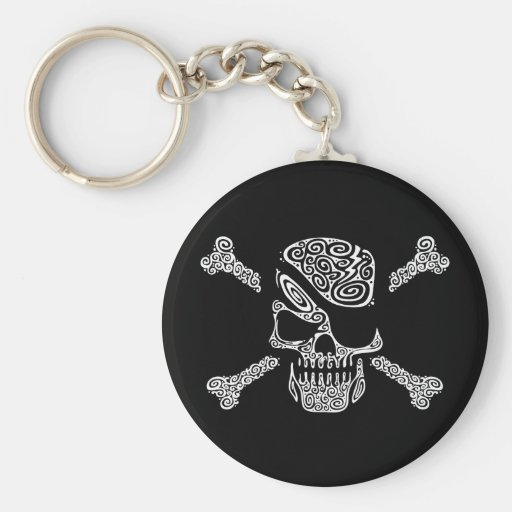 Captain Curly Basic Round Button Keychain
