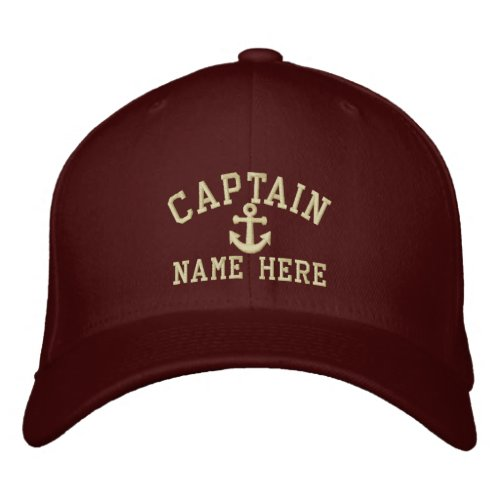 Captain _ customizable embroidered baseball cap