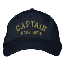 Captain - customizable embroidered baseball cap