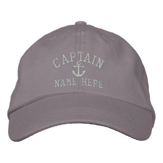 Captain - customizable embroidered baseball caps