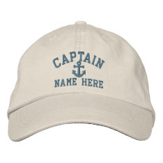 Captain - Customizable Embroidered Baseball Hat at Zazzle