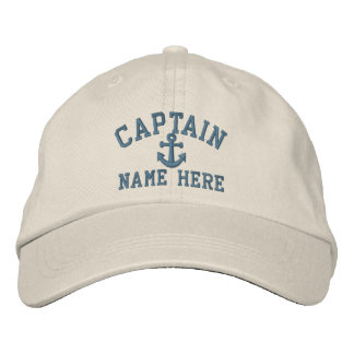Captain - customizable embroidered hat