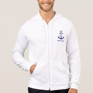 Captain Customizable Nautical Anchor and Rope Hoodie