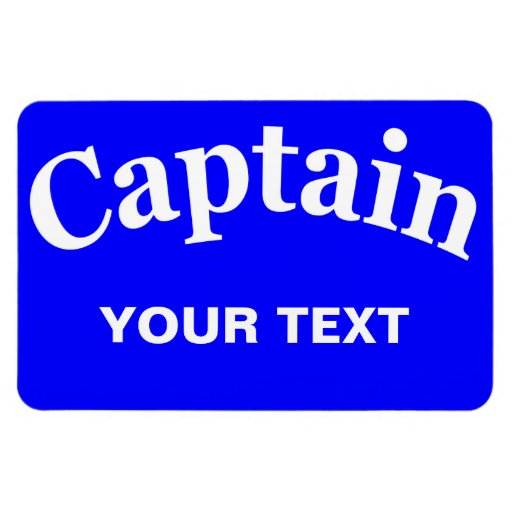 CAPTAIN - CUSTOMIZABLE RECTANGLE MAGNETS