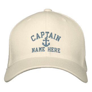 Captain - customizable (side text) embroidered baseball cap