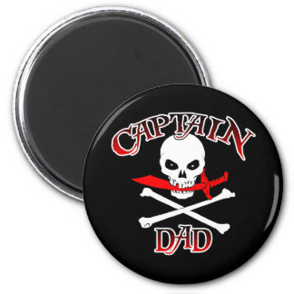 Captain Dad (Cutlass)Magnet 2 Inch Round Magnet