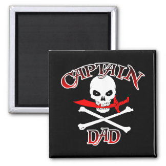 Captain Dad (Cutlass)Magnet 2 Inch Square Magnet