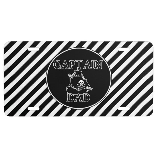 Captain Dad - Ghostly Galleon License Plate
